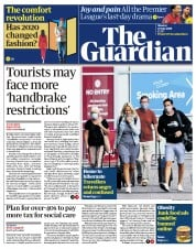 The Guardian front page for 27 July 2020