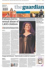 The Guardian (UK) Newspaper Front Page for 27 August 2014