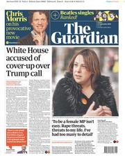 The Guardian (UK) Newspaper Front Page for 27 September 2019