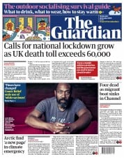 The Guardian front page for 28 October 2020