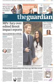 The Guardian (UK) Newspaper Front Page for 28 November 2017