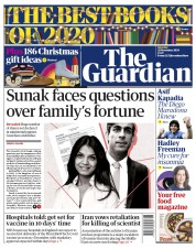 The Guardian front page for 28 November 2020