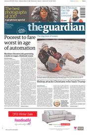 The Guardian (UK) Newspaper Front Page for 28 December 2017