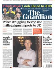The Guardian (UK) Newspaper Front Page for 28 December 2018