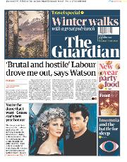 The Guardian (UK) Newspaper Front Page for 28 December 2019