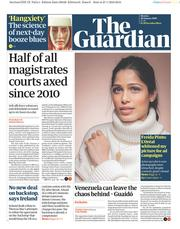 The Guardian (UK) Newspaper Front Page for 28 January 2019