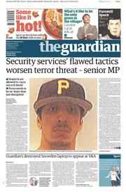 The Guardian (UK) Newspaper Front Page for 28 February 2015
