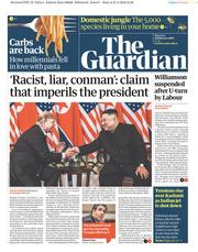 The Guardian () Newspaper Front Page for 28 February 2019