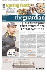 The Guardian (UK) Newspaper Front Page for 28 March 2015