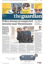 The Guardian (UK) Newspaper Front Page for 28 April 2017