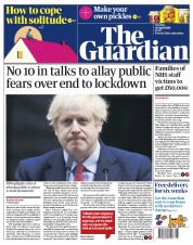 The Guardian (UK) Newspaper Front Page for 28 April 2020