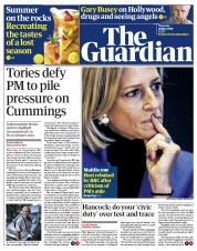 The Guardian (UK) Newspaper Front Page for 28 May 2020