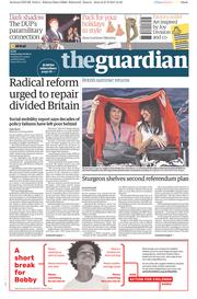 The Guardian (UK) Newspaper Front Page for 28 June 2017