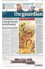 The Guardian (UK) Newspaper Front Page for 28 July 2015