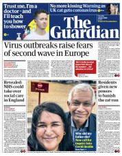 The Guardian front page for 28 July 2020