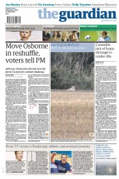 The Guardian Newspaper Front Page (UK) for 28 August 2012