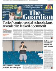 The Guardian (UK) Newspaper Front Page for 28 August 2019