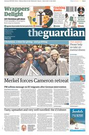 The Guardian (UK) Newspaper Front Page for 29 November 2014