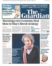 The Guardian (UK) Newspaper Front Page for 29 November 2018