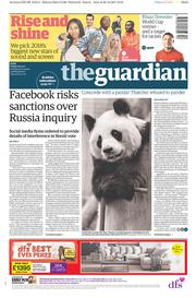 The Guardian (UK) Newspaper Front Page for 29 December 2017