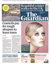 The Guardian (UK) Newspaper Front Page for 29 December 2018