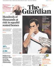 The Guardian (UK) Newspaper Front Page for 29 January 2018