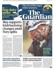 The Guardian (UK) Newspaper Front Page for 29 January 2019