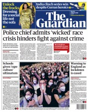 The Guardian (UK) Newspaper Front Page for 29 March 2021