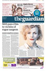 The Guardian (UK) Newspaper Front Page for 29 April 2017