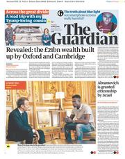 The Guardian (UK) Newspaper Front Page for 29 May 2018