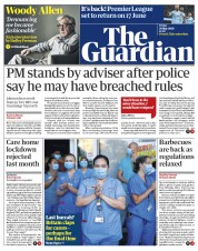 The Guardian front page for 29 May 2020