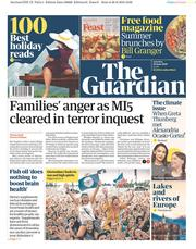 The Guardian (UK) Newspaper Front Page for 29 June 2019