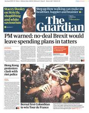 The Guardian (UK) Newspaper Front Page for 29 July 2019