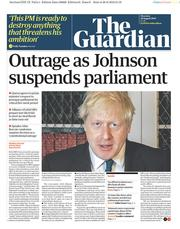 The Guardian () Newspaper Front Page for 29 August 2019