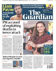 The Guardian (UK) Newspaper Front Page for 2 December 2019