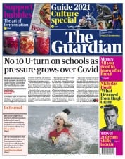 The Guardian front page for 2 January 2021