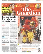 The Guardian (UK) Newspaper Front Page for 2 February 2018