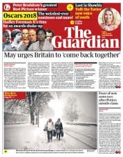 The Guardian (UK) Newspaper Front Page for 2 March 2018