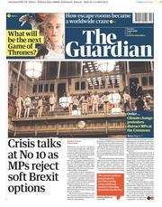 The Guardian (UK) Newspaper Front Page for 2 April 2019