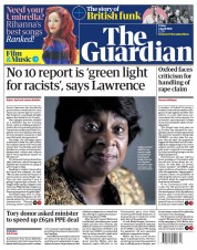 The Guardian front page for 2 April 2021