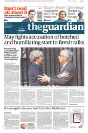 The Guardian (UK) Newspaper Front Page for 2 May 2017