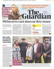 The Guardian (UK) Newspaper Front Page for 2 May 2018