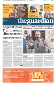 The Guardian (UK) Newspaper Front Page for 2 June 2017