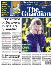The Guardian front page for 2 June 2020