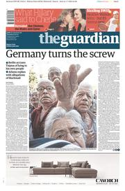 The Guardian (UK) Newspaper Front Page for 2 July 2015