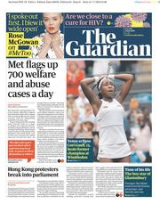 The Guardian (UK) Newspaper Front Page for 2 July 2019