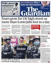 The Guardian front page for 2 July 2020