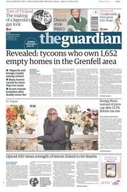 The Guardian (UK) Newspaper Front Page for 2 August 2017
