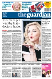 The Guardian (UK) Newspaper Front Page for 2 September 2011