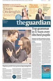 The Guardian (UK) Newspaper Front Page for 2 September 2017